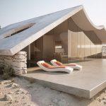 Supermoderní vila v poušti je hudbou budoucnosti 2