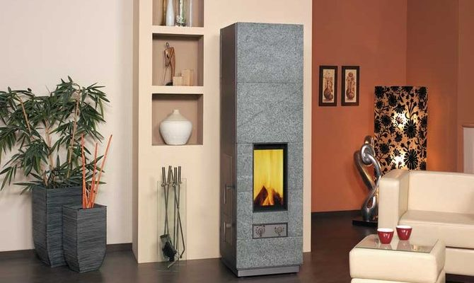 Kompaktní kamna - vytápění dřevem 1