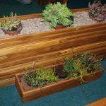 Zahradní květináče ze dřeva 7