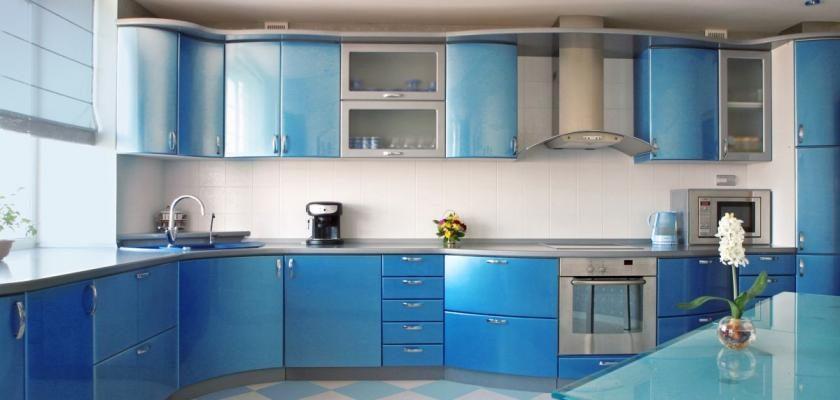 Modrá v kuchyni 1