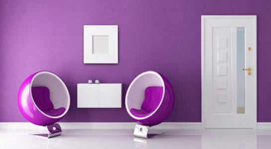 Fialový interiér, který si zamilujete 6