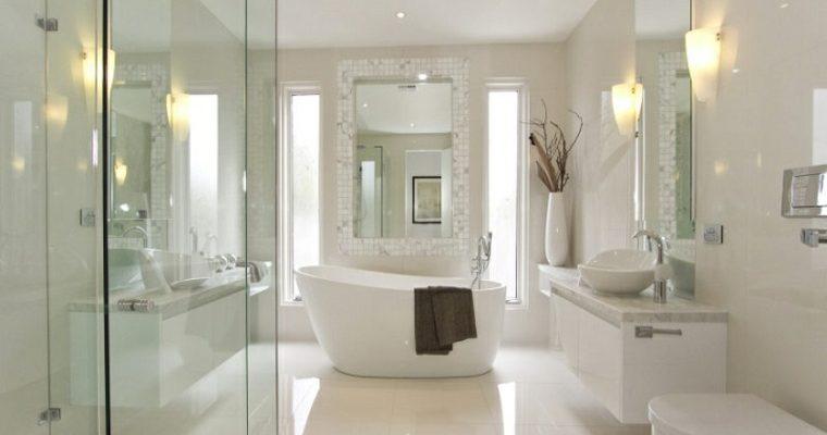 Sněhobílá koupelna 1