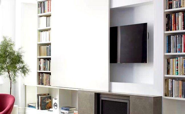 Jak ukrýt televizor v pokoji prakticky i vtipně 1